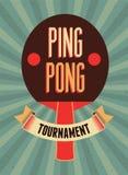 Śwista Pong rocznika stylu typographical plakat retro ilustracyjny wektora Obraz Royalty Free