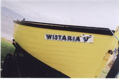 Wistaria V. Fishing boat in Kerry, Eire Stock Images