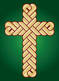 Wisted Christian Holy cross. Vector image of twisted Christian Holy cross Royalty Free Stock Photo