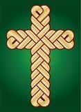 Wisted christliches heiliges Kreuz Lizenzfreies Stockfoto