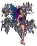 Wisteria Fairy. Digital render of a fairy with purple Wisteria Stock Photos