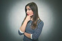 wistful γυναίκα κορίτσι σκεπτικό στοκ φωτογραφία
