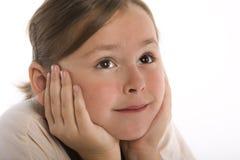 wistful νεολαίες κοριτσιών στοκ εικόνα με δικαίωμα ελεύθερης χρήσης