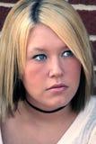 Wistful Blond Portrait Stock Photo