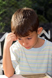 Wistful boy Royalty Free Stock Photography