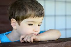 Wistful child Royalty Free Stock Photos