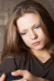 Wistful sidelong glance Royalty Free Stock Photos