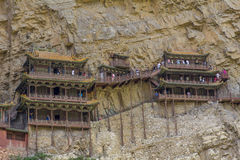 Wisząca Świątynna Henshang góra Fotografia Stock