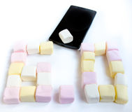 Wisząca ozdoba i Marshmallow Fotografia Stock