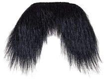 Wiszący czarny wąsy odizolowywający na bielu zdjęcie royalty free