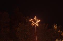 Wiszący gwiazdowi lampionów światła Obraz Royalty Free