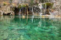 Wiszący jezioro i Bridal przesłona spadki Zdjęcia Stock