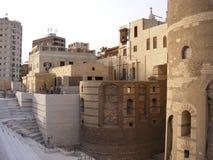 Wiszący kościół rujnuje antycznego historycznego chrześcijanina w starym Kair Grecki antyczny Kair Egipt zdjęcie royalty free