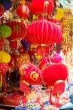 Wiszący lampiony - chiński nowego roku symbol Obrazy Stock