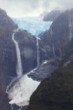 Wiszący lodowiec, Queulat park narodowy, Chile Fotografia Royalty Free