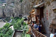 Wiszący monaster, Datong, Chiny obraz royalty free