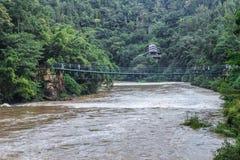 Wiszący most zdjęcie stock