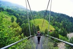 Wiszący most - Hängebrà ¼ gg Zdjęcie Stock