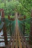 Wiszący most nad rzeką zdjęcia royalty free