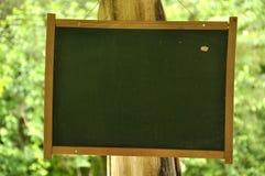 Wiszący plenerowy znak Zdjęcie Stock
