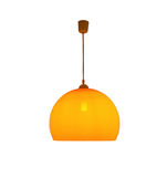 Wiszący pomarańczowy lampy światło odizolowywający z ścinek ścieżką Zdjęcia Royalty Free