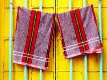 Wiszący ręczniki Zdjęcia Stock