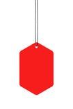 wiszące czerwone etykietki Fotografia Stock