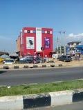 Wiszącej ozdoby Lagos Nigeria stacyjna droga zdjęcia stock
