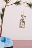 Wiszący dolar Fotografia Royalty Free