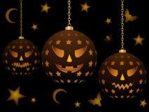 wiszący Halloween lampiony Zdjęcia Stock