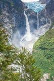Wiszący lodowiec Queulat park narodowy, Chile Obraz Royalty Free