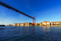Wiszący most i Getxo Fotografia Stock