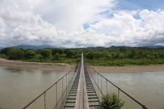 Wiszący most w Kot Belud Sabah Malezja Zdjęcia Stock