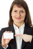 wit adreskaartje Stock Afbeeldingen