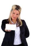 Wit Adreskaartje Royalty-vrije Stock Afbeeldingen