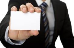 Wit adreskaartje Royalty-vrije Stock Afbeelding