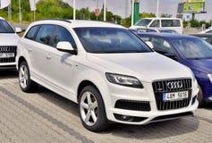 Wit Audi Q7 Stock Foto