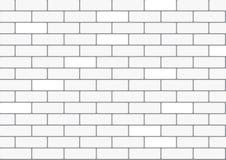 Wit baksteenbehang Stock Foto