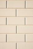 Wit baksteenpatroon Stock Foto's