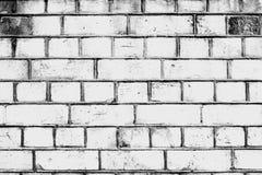 Wit bakstenen muurhuis De rijen van bakstenen Royalty-vrije Stock Foto