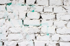 Wit bakstenen muurpatroon Stock Afbeelding