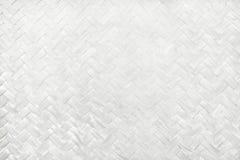 Wit bamboe wevend patroon, de geweven textuur van de rotanmat voor achtergrond en het werk van de ontwerpkunst stock illustratie