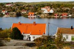 Wit barhuis dichtbij fjord Kragero, Portor Royalty-vrije Stock Fotografie