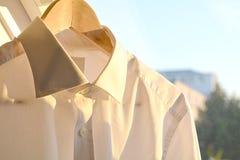Wit bedrijfsoverhemd Royalty-vrije Stock Afbeeldingen