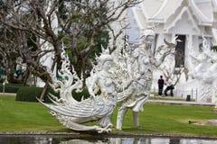 Wit beeldhouwwerk royalty-vrije stock fotografie