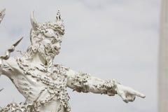 Wit beeldhouwwerk van reus royalty-vrije stock fotografie