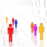 Wit Binair getal Stock Afbeeldingen
