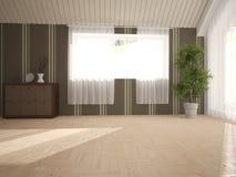 Wit binnenlands ontwerp van woonkamer Stock Foto's