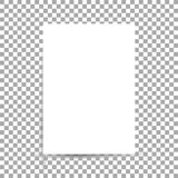 Wit blad van document formaat A4 met schaduwen vector illustratie