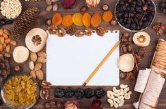 De recepten van de herfst Stock Foto's